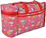 #6: Toyboy Multi Purpose Baby Diaper Mother Bag With 2 Bottle Holders - Keep Baby Bottles Warm (Red) - Assorted Prints