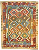CarpetFine: Kelim Afghan Teppich 190x243 Multicolor - Geometrisch