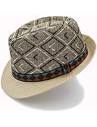 Easy Go Shopping Cappello estivo da donna Cappello estivo da donna con  cappello di paglia f846589f4228