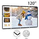 Portable Indoor Outdoor Projector Screen, Womdee 100 Inch Projection Screen 16:9 HD Foldable Anti-crease Portable...