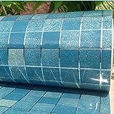 Mosaik-küche Öl aufkleber,Folie papier dekorfliesen glas wasserdicht selbstklebende wandsticker hochtemperatur aluminium folie aufkleber-B 100x45cm(39x18inch)