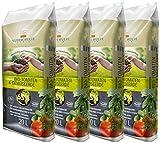 Floragard Kleeschulte Bio Tomaten und Gemüseerde 4x20 L • torffrei • 65% Klimavorteil • 80 L