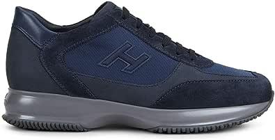 Hogan - Sneakers Interactive Blu in Pelle e Tessuto - HXM00N0Q101LIU871F - Taglia 10 UK Man