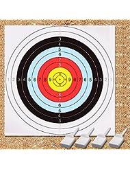 60cm/24en Bullseye tir à l'arc et pistolet cibles, Geekhom vue cibles Lot de 10packs de papiers, 4broches)