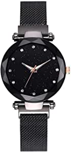 TIMESOON Analogue Girls' Watch (Black Dial Black Colored Strap)