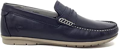 Valleverde Mocassino Uomo 36950 in Pelle Brown o Blu Modello Casual. Una Calzatura Comoda Adatta per Tutte Le Occasioni. Primavera-Estate 2021