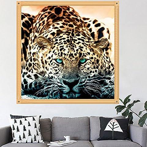 hndhui DIY 5D Leopard Diamant Stickerei Malerei Kreuz Craft Punkt Home Decor Kit Diamant DIY Kreuzstich-Kunstharz Dekoration von Haus Wohnzimmer