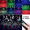 Aomees Disco Ball Party Light Disco Lights Bulb Rotating Sound Activated LED Strobe Light DJ Light 3W RGB Stage Lights with Remote for Decoration Festival Kids Birthday Party Club Karaoke Dancing Show