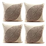 Best Linen Store Furniture Couches - Luxbon Set of 4Pcs Stylish Simplicity Leave Design Review