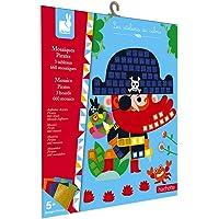 Janod - Coffret Mosaïques en Mousse Pirates - Les Ateliers du Calme - Kit Loisir Créatif Enfant - Apprentissage…