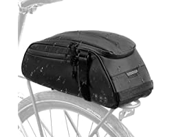 Nasjac Bike Bags For Rear Carrier, Bike Pannier Rack Bag, Reflective Water Resistant Bicycle Rear Seat Pannier Cargo Trunk St