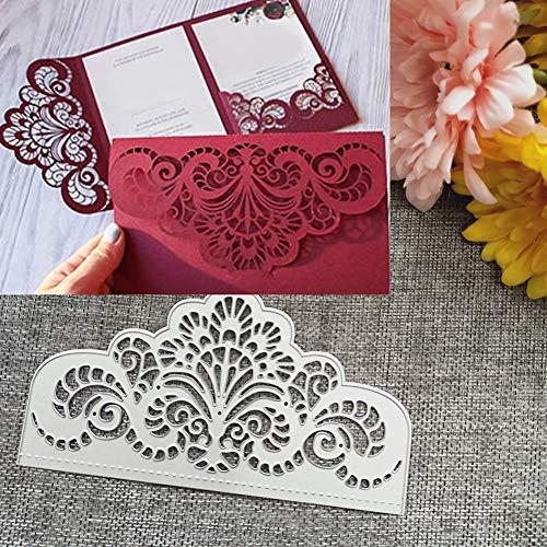 en, Flower Metal Stanzformen DIY Scrapbooking Einladungskarten Album Art Schablone - Silber ()