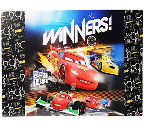alles-meine.de GmbH Schreibtischunterlage / Unterlage -  Disney Cars - Lightning McQueen  - 60 cm * 40 cm - Tischunterlage / Knetunterlage / Bastelunterlage - mit Einschubfach ..