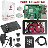 "Raspberry Pi 3 B+ Ultimate Starter-Set – Komplettes Touch & Teach-Paket mit Pi3 B+ Motherboard, 7"" Touchscreen-Display, 32GB vorinstalliertem NOOBS, Originalgehäuse, 2 Kühlern & HDMI & Stromversorgung (black)"
