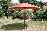 Mercato ombrello 350cm 8rebbi terracotta effetto teak