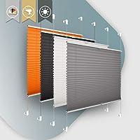 Plisseerollo ohne Bohren klemmfix Jalousie Sonnenschutz Easyfix Faltrollo Lichtdurchlässig Rollo für Fenster & Tür…