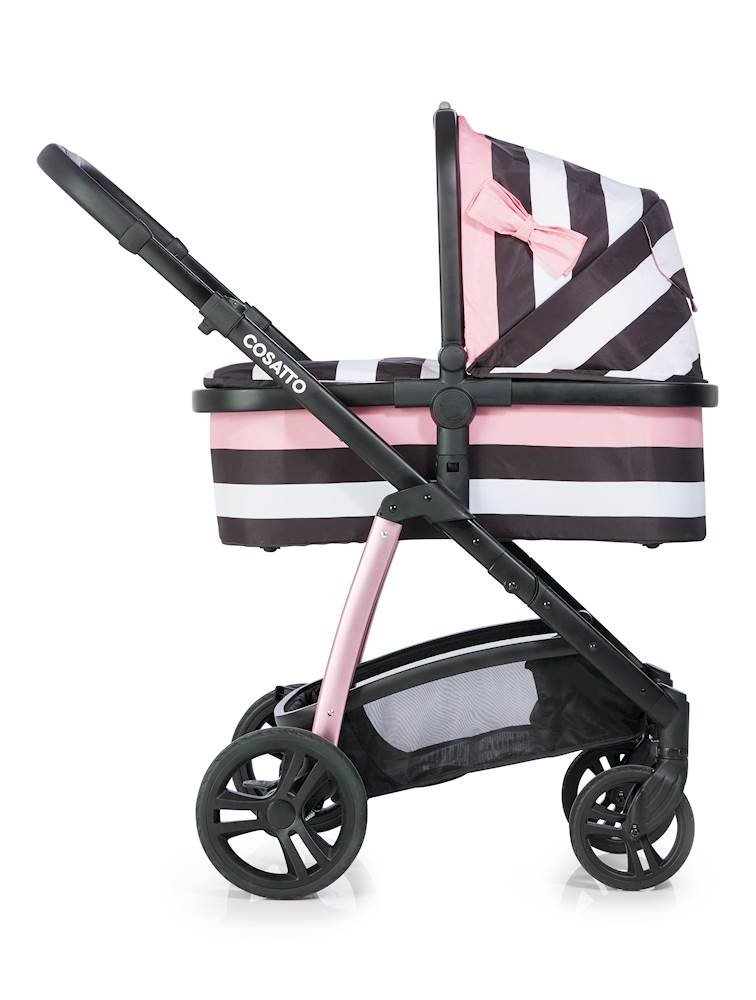 Cosatto Wow Pram and Pushchair, from Birth Carrycot and Pushchair Suitable upto 25 kg, GoLightly 3 Cosatto Backed by science, Cosatto prams are ideal for your baby; the patterns in Cosatto hoods are designed to stimulate your baby with bright, eye-catching colour and storytelling pattern Includes the from-birth carrycot (suitable for occasional overnight sleeping), then swap to pushchair unit, suitable up to 25 kg, with parent and world facing options and four recline positions Easy one-handed features, push-button carrycot removal, seat recline and calf support 2