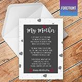 personalisierbarMeine Mutter Gedicht Grußkarte–Texten für jede Gelegenheit oder Event–Geburtstag/Weihnachten/Hochzeit/Jahrestag/Verlobung/Vatertag/Muttertag