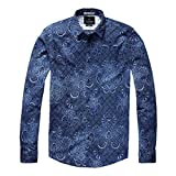 SCOTCH & SODA, Hemd mit Print Blau, Größe XXL