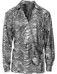 Widmann 70er Disco Fever Shirt Herren silber