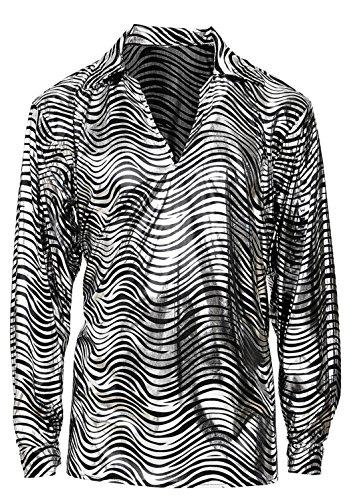 ever Shirt Herren silber XL (70er Disco-shirts)