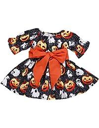 ALIKEEY Toddler Infant Baby Girls La Calabaza Fantasma Imprimir Vestidos Trajes De Disfraz De Halloween Tienda CáTedra Una RelacióN