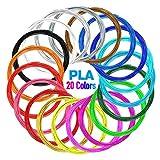 NULAXY Filamenti Penna 3D, PLA Filamento 1.75mm,20 Colore Materiali 3D Filamenti per la Stampa 3D Hobby Creativi