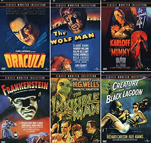 Ultimate Classic Monster DVD Collection: Universal Pictures Complete 6 Movies (Dracula/Wolf Man/Mummy/Frankenstein/Invisible Man/Black Lagoon)