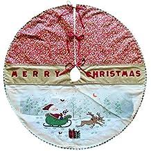 Albero Di Natale Gonna con Dipinto Babbo natale on Slitta Design