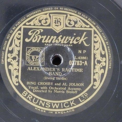 gramophone record BING CROSBY & AL JOHNSON alexanders ragtime band / the spaniard that blighted my life (Record Vinyl Bing Crosby)