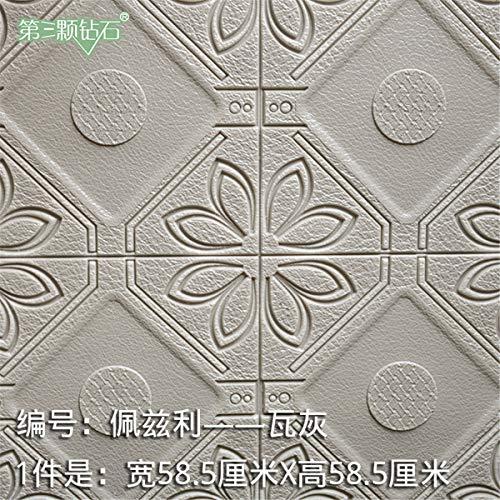 QIN-ER - wallpaper A luxuriöse Tapete/Vintage tapete/Wandtapete 3D Selbstklebende Wand-Aufkleber/Wohnzimmer-Tapeten-Aufkleber-Tapete 1 * 1, K, Breite 58.5cm * High 58.5cm