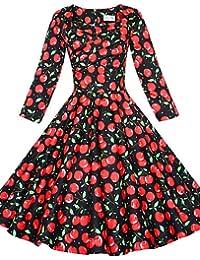 LYQ  De las mujeres Tallas Grandes Vestido Tallas Grandes   Vintage    Fiesta   Para Trabajo   Casual Un Color Hasta la Rodilla Escote… f05ec716e98