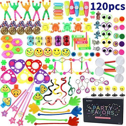 Nicknack 120pcs assortimenti di giocattoli per bambini, bomboniere per feste forniture ragazza ragazzo regalo di compleanno borse bambini premio scuola di carnevale
