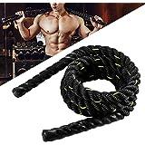 WERTAZ Battle Jump Rope zwaar springtouw springtouw workout vechttouwen voor mannen en vrouwen, fitness workouts krachttraini