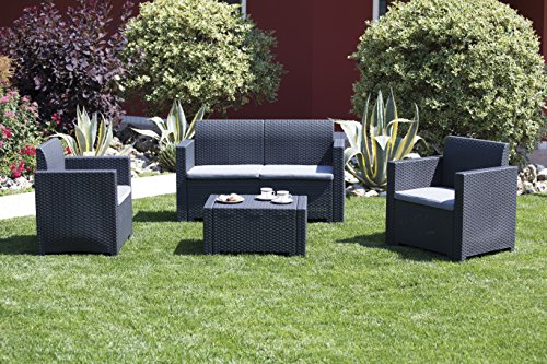 Bica 9067.4 Set Nebraska Salottino 4 Posti, Antracite, 281 x 155 x 79 cm - 6
