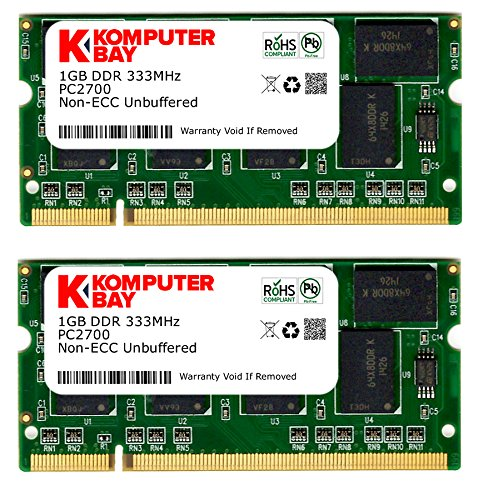 Komputerbay 2Go (2x1Go) 333Mhz DDR PC2700 DDR333 (200 broches) mémoire d'ordinateur portable...