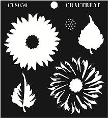 """CrafTreat Layered Stencil - Sunflower 6""""X6"""""""