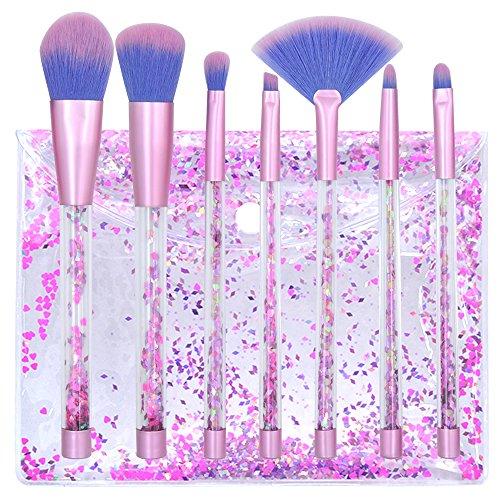 Lot de pinceaux de maquillage Cristal Quicksand professionnel Fond de teint Brosse de Maquillage cosmétiques outils beauté outils mélanges Poudre Fard à paupières sourcils Blush avec sac