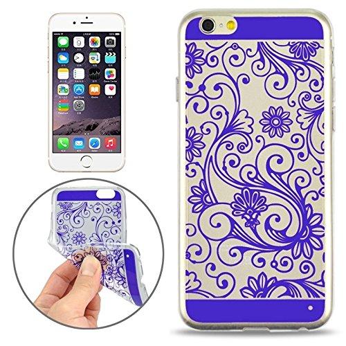 Phone case & Hülle Für iPhone 6 / 6S, Ultra-dünnen Blumenmuster Soft TPU Schutzhülle ( Color : Yellow ) Purple