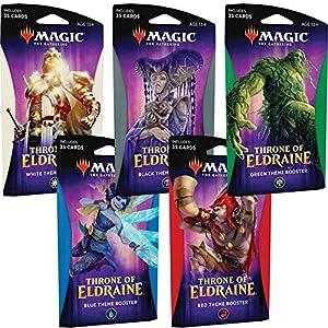 Magic The Gathering MTG-ELD-TBD-EN Throne of Eldraine Theme Booster Pack (Color enviado al Azar)