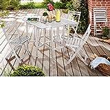 PureDay Balkon-Set Rosana 5-teilig - Balkonmöbel - Holz - Weiß