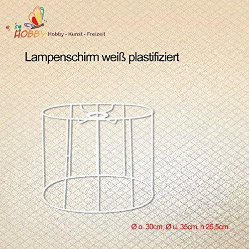 SMITS Lámpara Pantalla, Estructura Color Blanco plastifiziert, diámetro O. 30cm, diámetro y 35cm, h 26,5cm