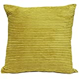 Just Contempo Jumbo Cord Cushion Cover, Lime, 21x21 inches