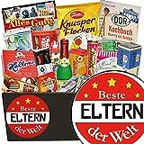 Beste Eltern der Welt ❤️ Süssigkeiten Geschenkbox ❤️ Geschenk Set ❤️ Beste Eltern der Welt ❤️ besondere Geburtstagsgeschenke für mütter ❤️ inkl. DDR Kochbuch