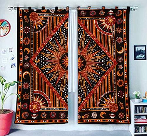 Burning Sun Fenster Treatments & Volance Schlafzimmer Decor Handgefertigte Wand hängende Boho Tür Baumwolle Bohemian...