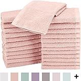 AmazonBasics Cotton Washcloths - Various pack size