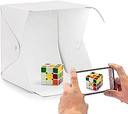 Syga Portable Small Photo Studio Light Box Folding Photography Lighting Tent Kit With Backdrops 23cm*23cm*23cm