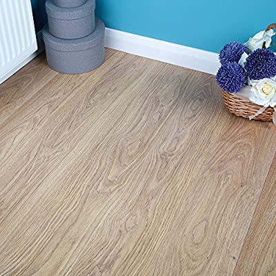 2.50m2 Commercial AC3 Laminate Flooring - Light Varnished Oak - 6mm
