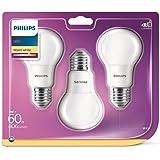 Philips Lighting Ampoule LED 60W A60 E27 WW 230V FR ND 3BC/6 6 x 6 x 11 cm Blanc Chaud