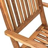 Estexo® Akazienholz Gartenmöbel Set – klappbar - 7